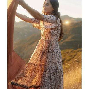 CHRISTY DAWN Theo Dress M Sand Anemone Vine NWT